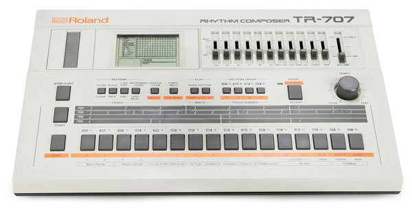 The Roland TR-707 Rhythm Composer